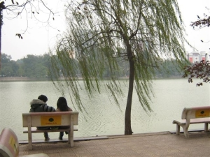 January day Lake Hoan Kiem